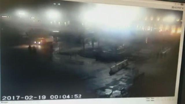 Milano, a fuoco le palme 'della discordia' in Piazza Duomo