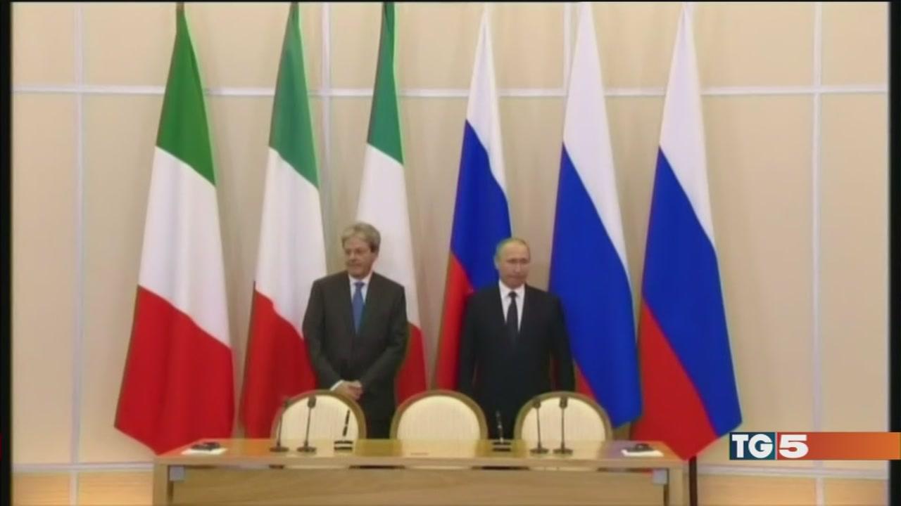 Gentiloni incontra Putin