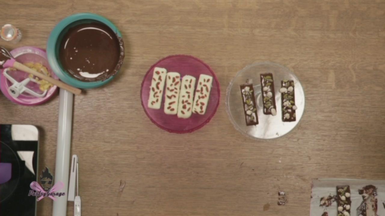 Barrette ricoperte di cioccolato
