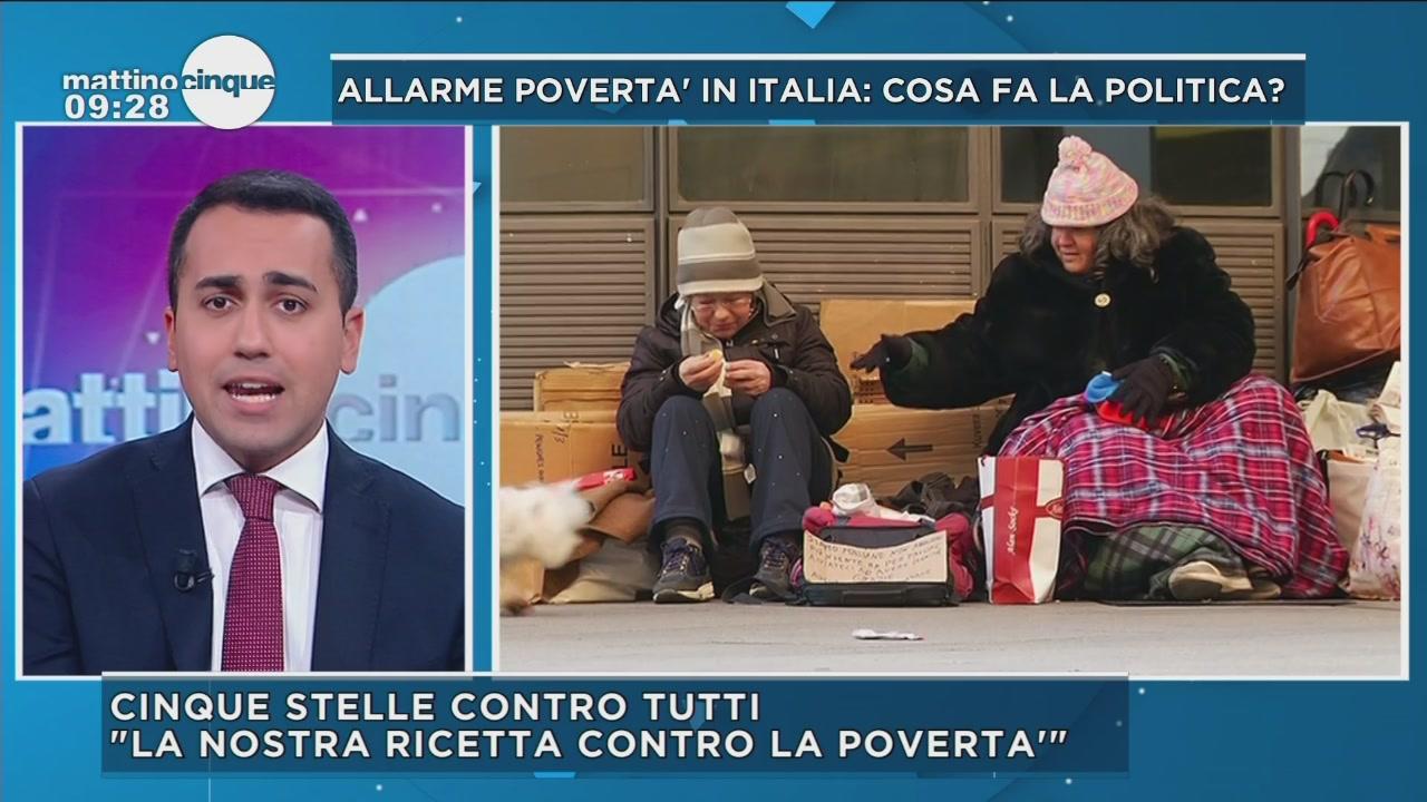 Allarme povertà, parla Luigi Di Maio