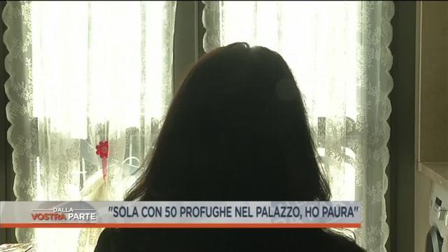 'Sola con 50 profughe nel palazzo, ho paura'