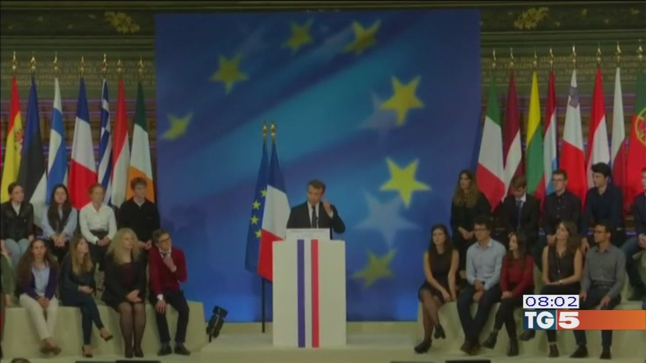 Vertice a Lione tra Macron e Gentiloni