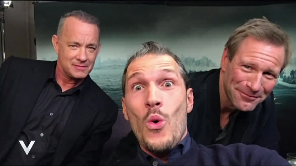 Tom Hanks e Aaron Eckhart intervistati da Alvin