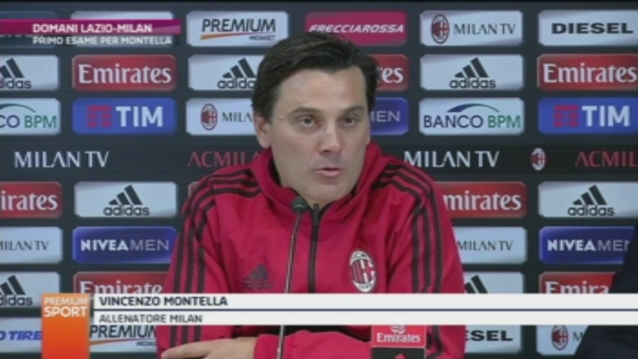 Il Milan di Montella sfida la Lazio