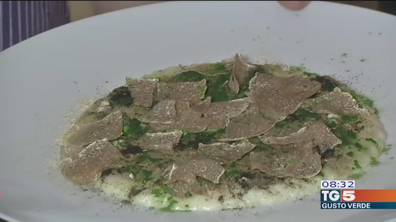Gusto Verde: risotto ai sapori autunnali mantecato con tartufo bianco