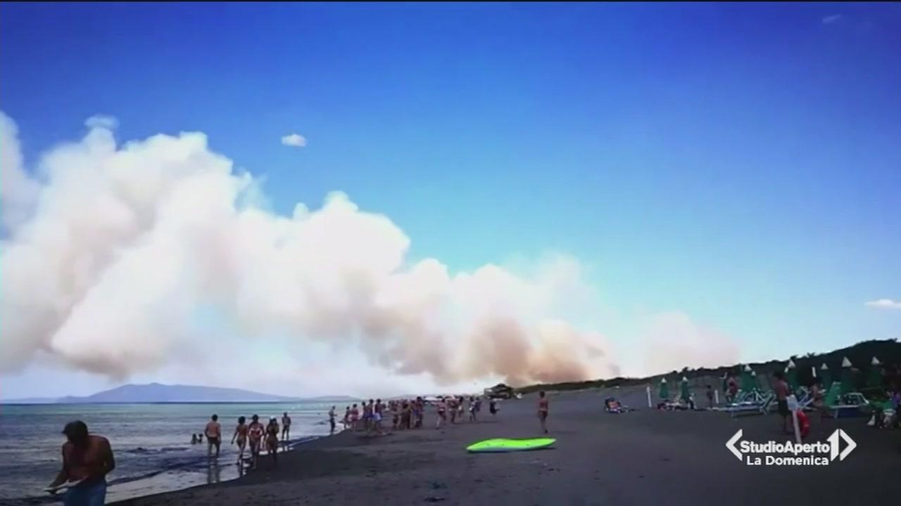 Incendio a Capalbio
