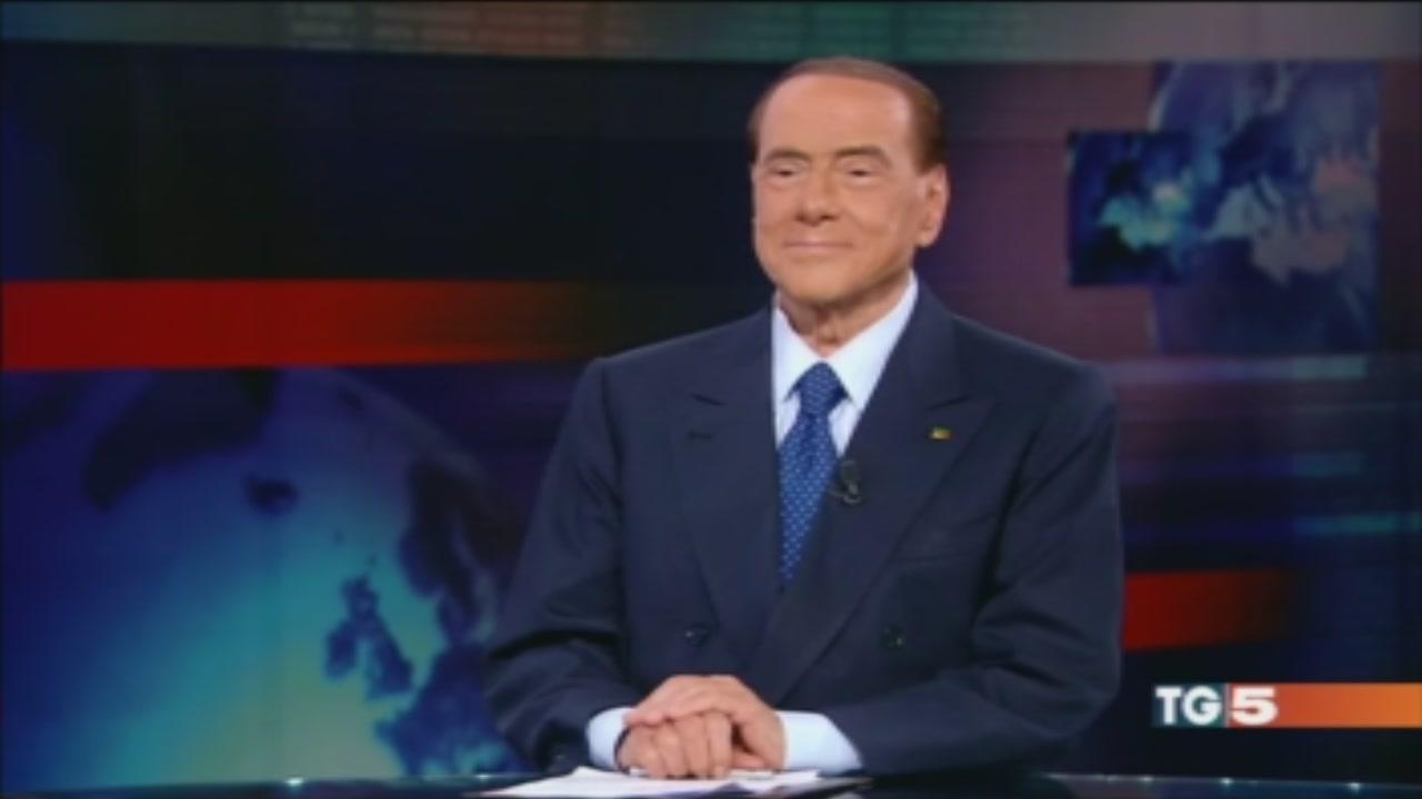"""Berlusconi al Tg5 """"La mia rivoluzione"""""""