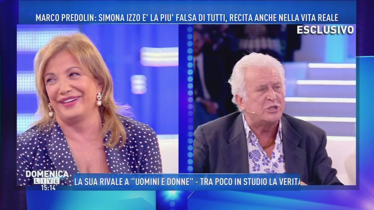Simona Izzo contro Marco Predolin