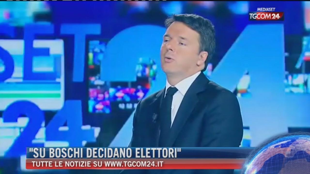 """Breaking News delle ore 21.30, Renzi a Tgcom24: """"Boschi, parola ad elettori"""""""