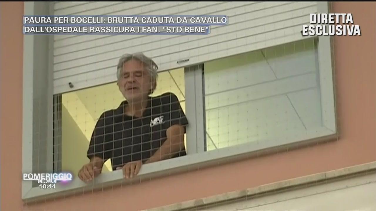 Andrea Bocelli: le immagini dall'ospedale