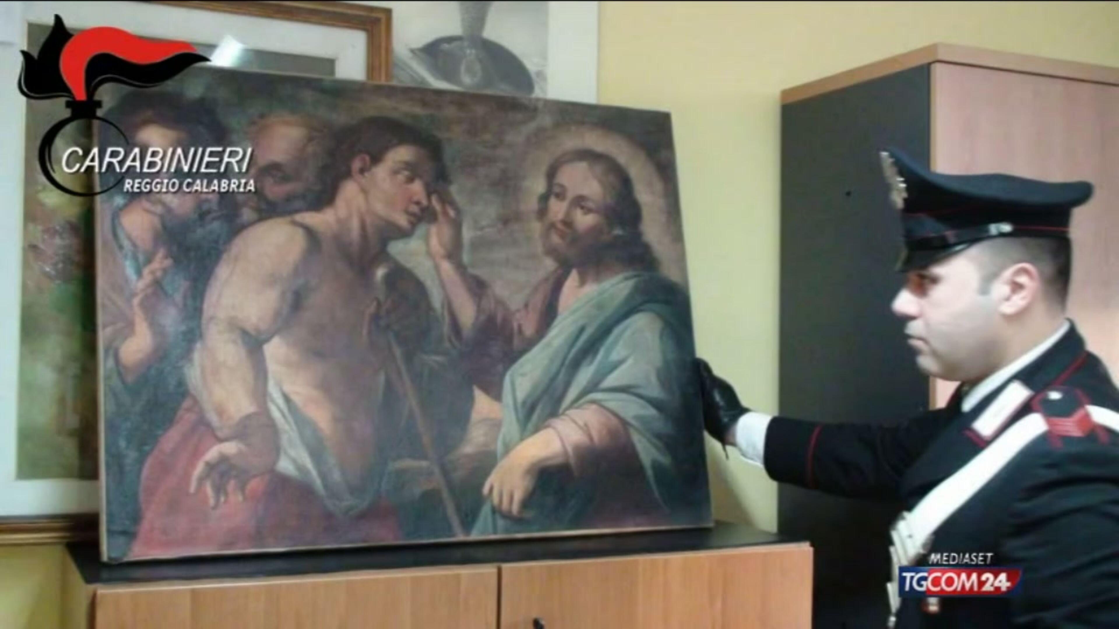 Messina, recuperate tele rubate: anche un Guttuso
