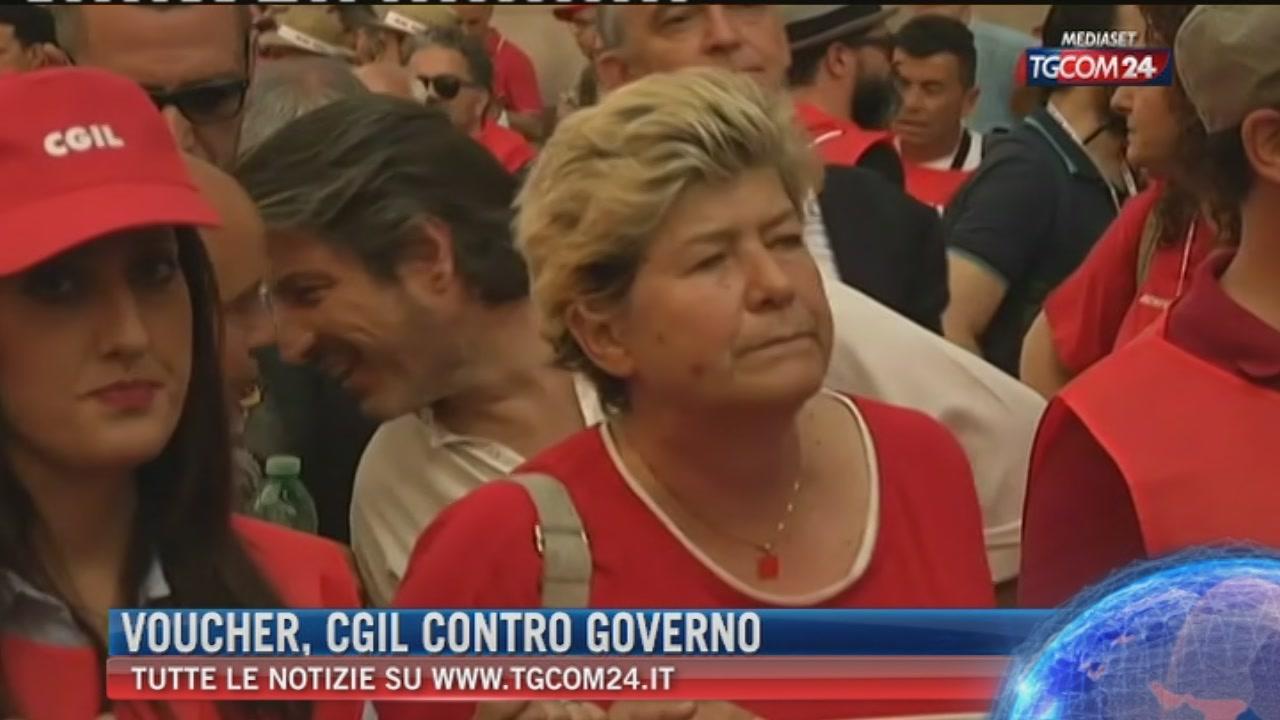 """Cgil a Roma contro i nuovi voucher, Gentiloni: """"Bersaglio è sbagliato"""""""