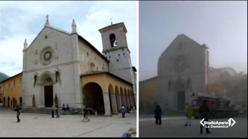 Norcia: crollata la Basilica di San Benedetto