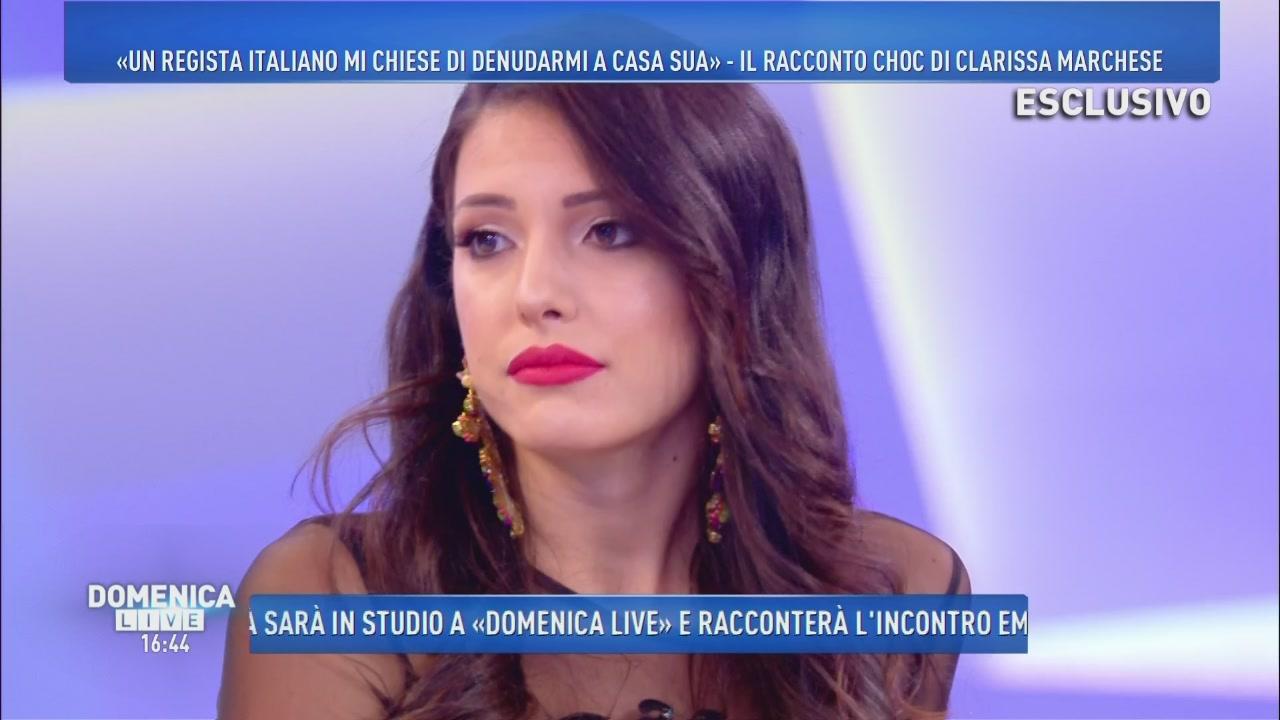 Clarissa Marchese, ex Miss Italia: un regista mi chiese di denudarmi a casa sua.