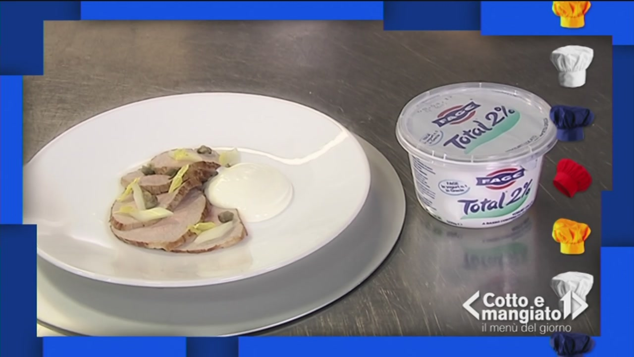Vitello sedano e capperi allo yogurt