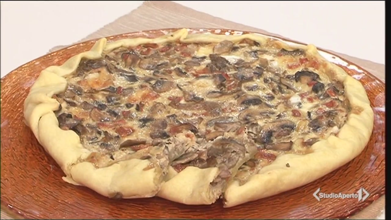Torta funghi e formaggio