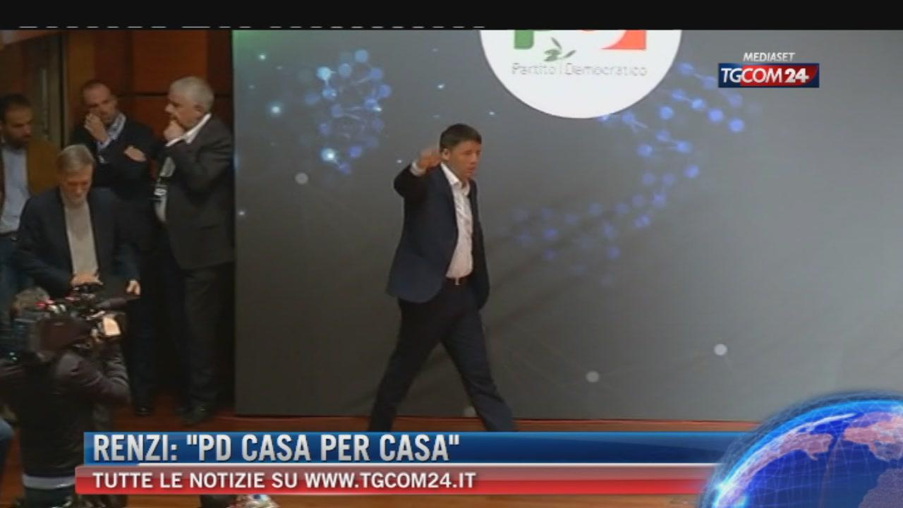 """Breaking News delle ore 09.00: """"Renzi, PD casa per casa"""""""