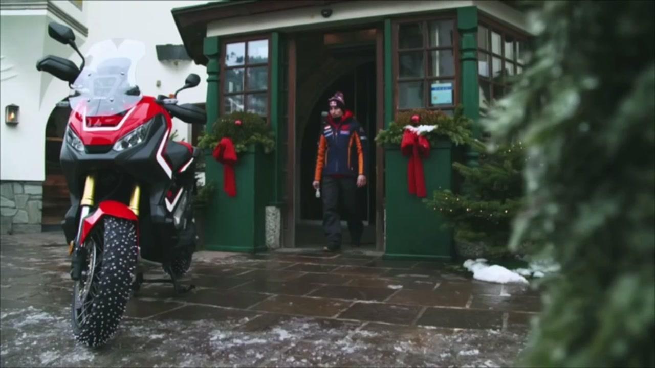 Honda X-ADV con Marc Marquez a Kitzbuehl