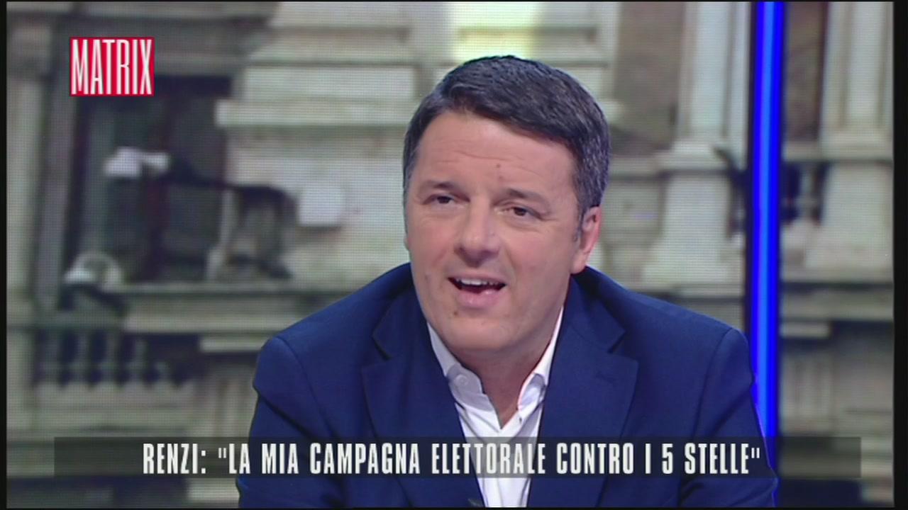 """Renzi: """"la mia campagna elettorale contro i 5 Stelle"""""""