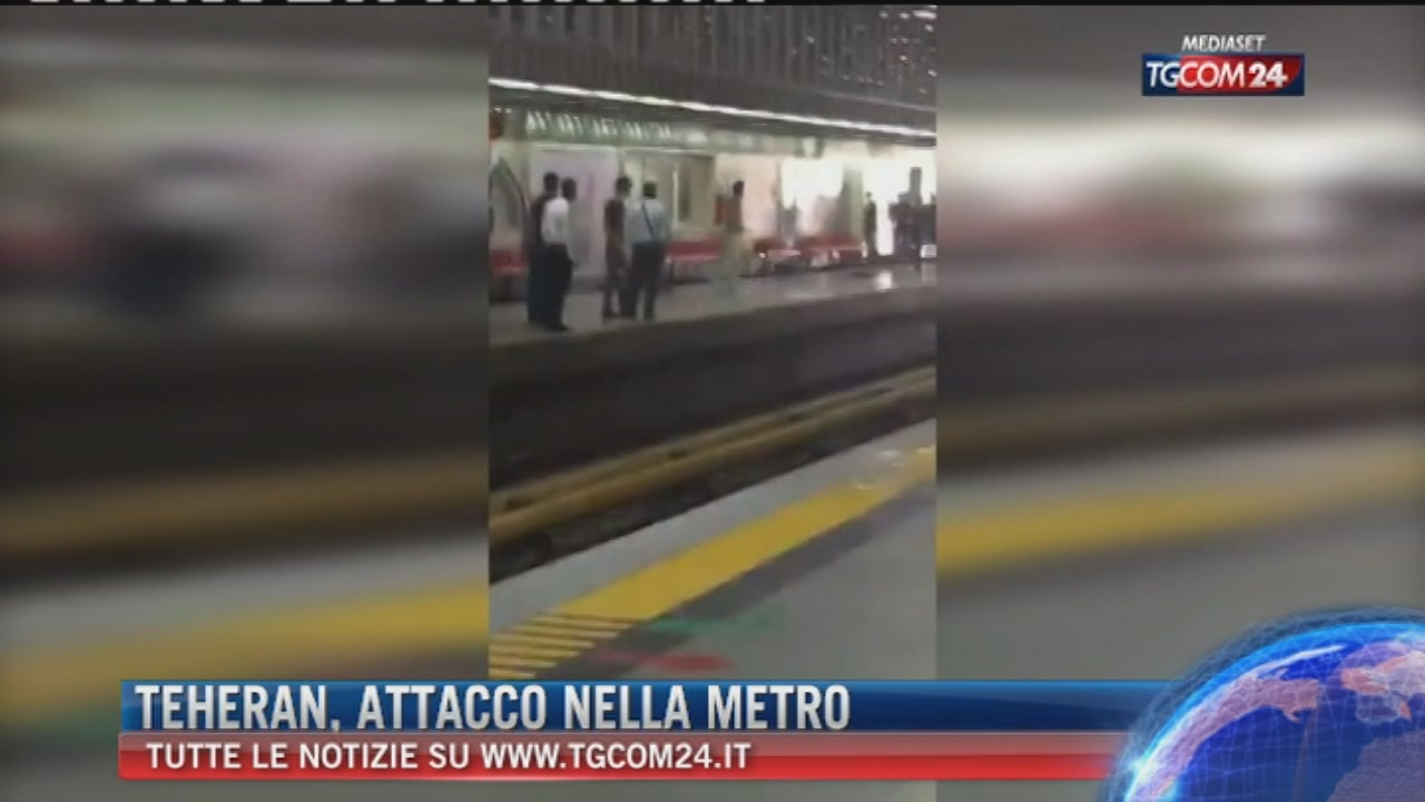 Teheran,armato di coltello contro passeggeri metro:ucciso da polizia