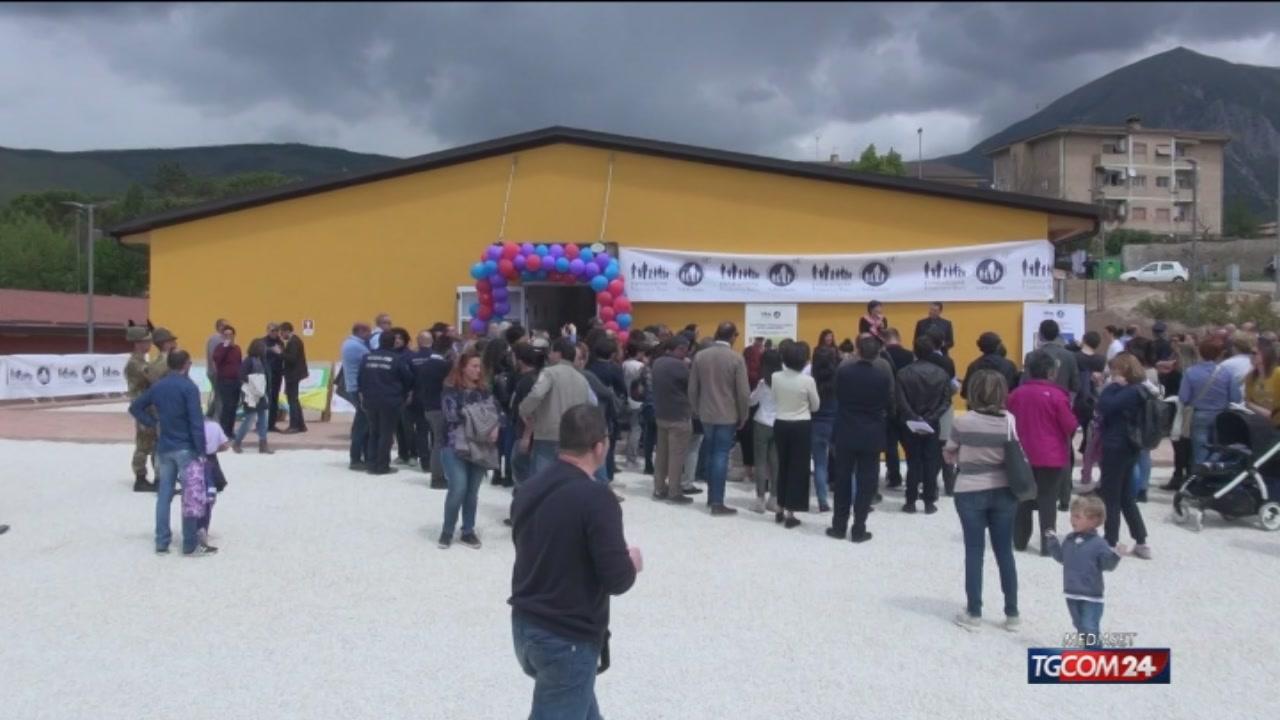 Norcia, ecco la nuova scuola dopo il crollo per il sisma