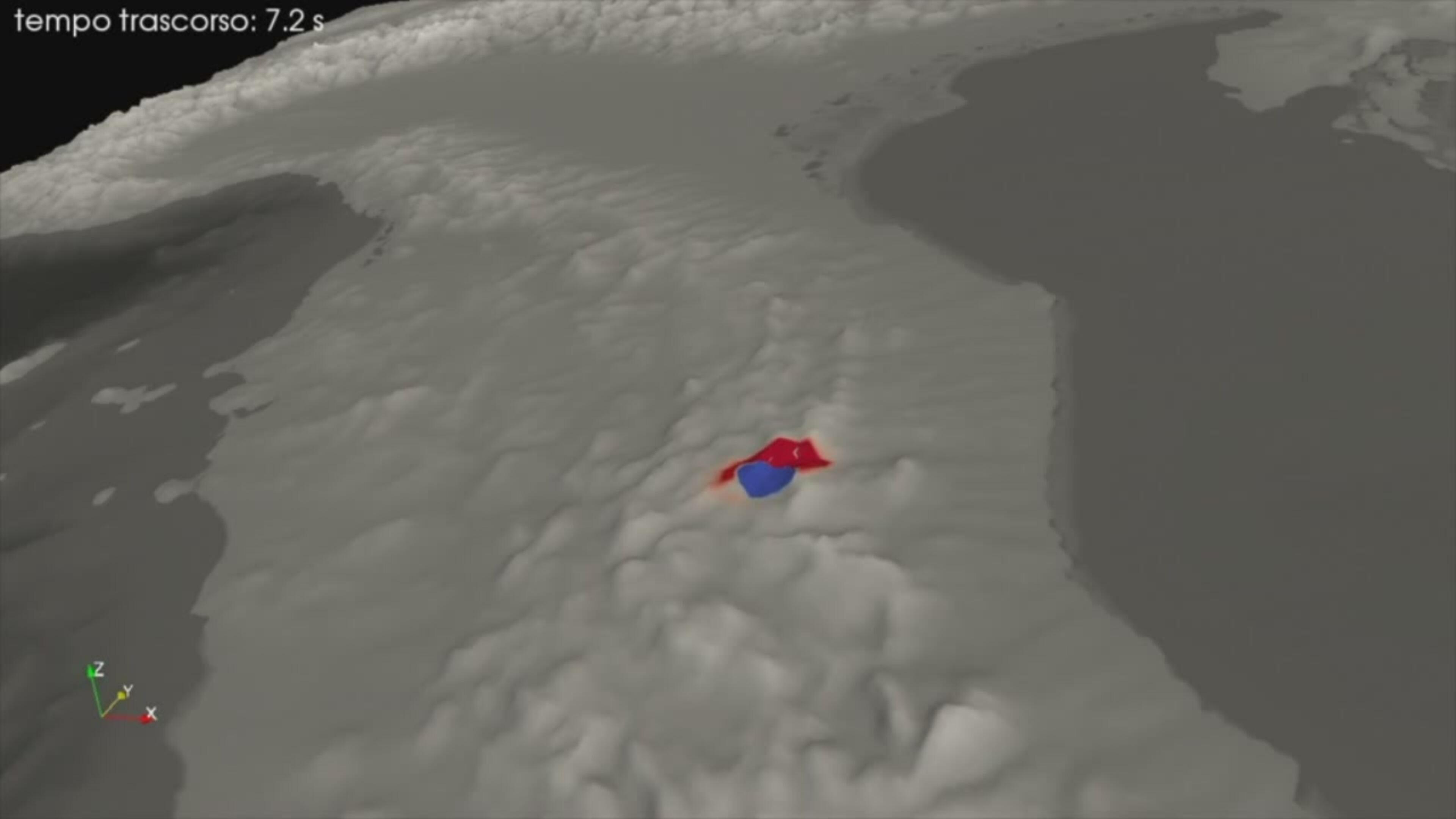 L'animazione dell'Ingv della scossa delle 3,36