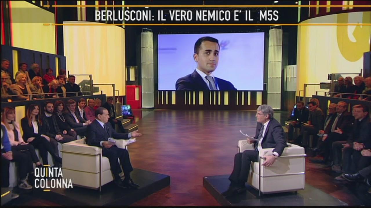 Silvio Berlusconi: il Movimento 5 Stelle