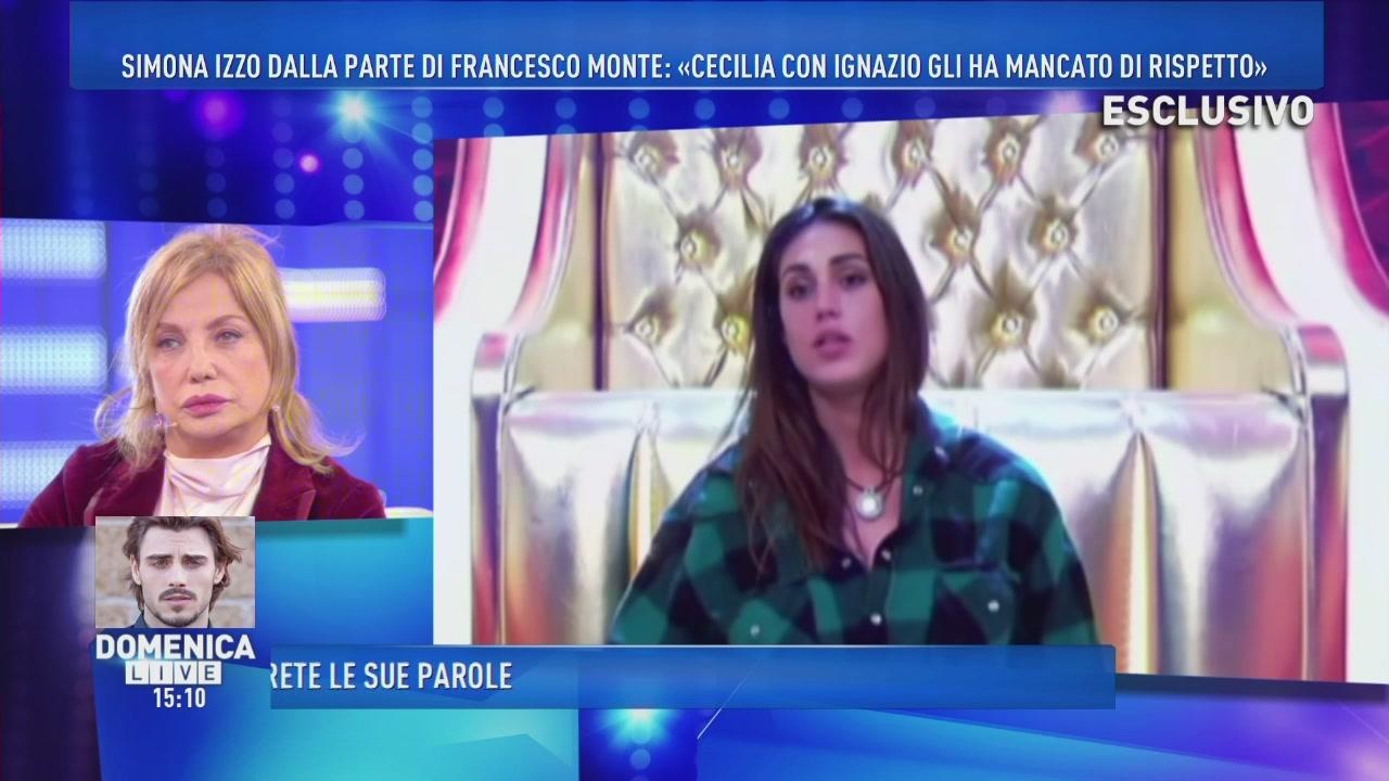 Simona Izzo prende le difese di Francesco Monte