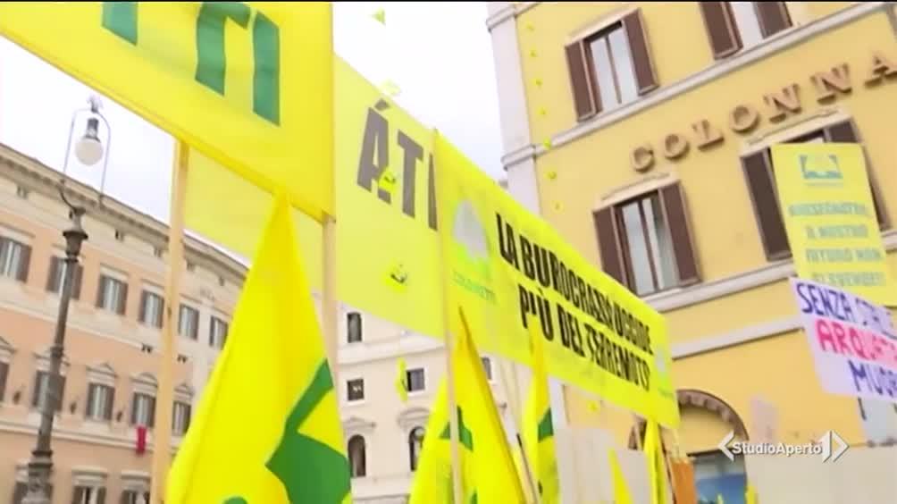 Terremoto, protesta degli allevatori