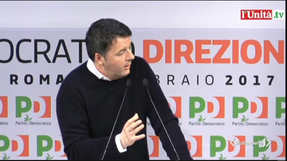 """Renzi al Pd: """"Diamoci una regolata"""""""