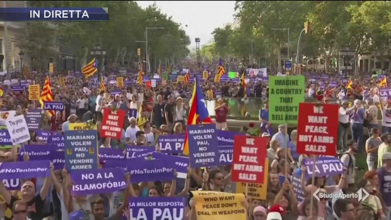 """Barcellona in piazza, """"Senza paura"""""""