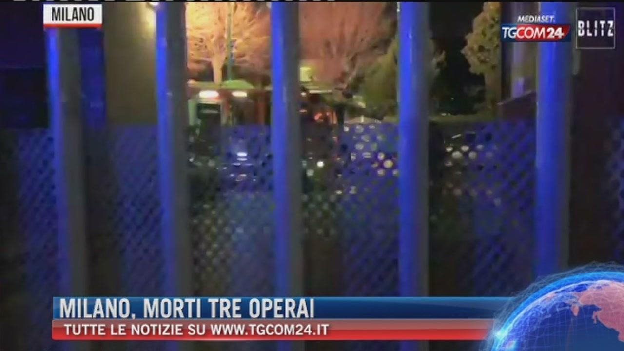 """Breaking News delle ore 21.30: """"Milano, morti tre operai"""""""