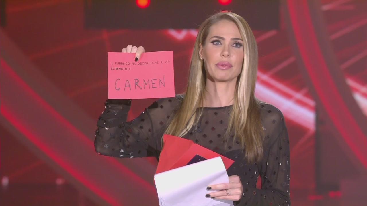 Carmen è la nuova eliminata