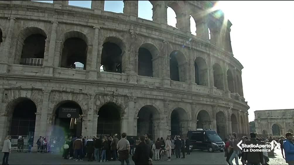 Colosseo sfregiato
