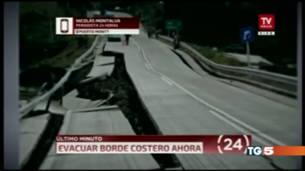 Violento sisma in Cile