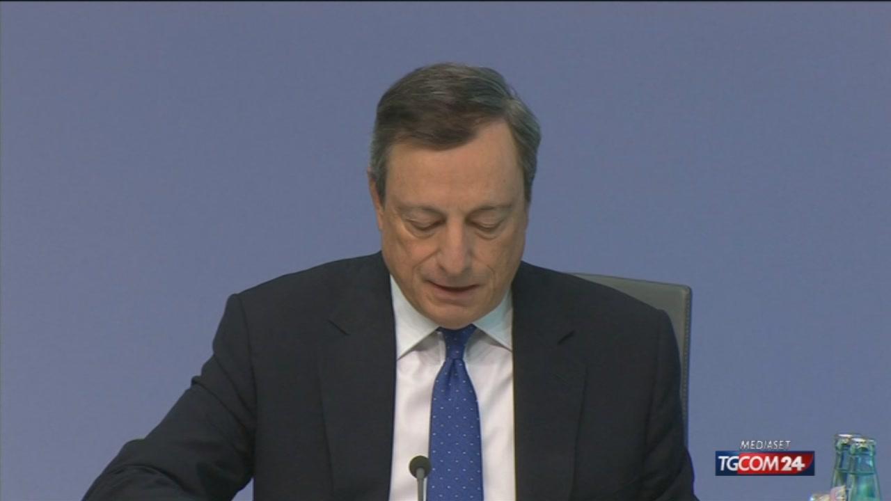 """Draghi: """"La ripresa si fa più solida"""""""