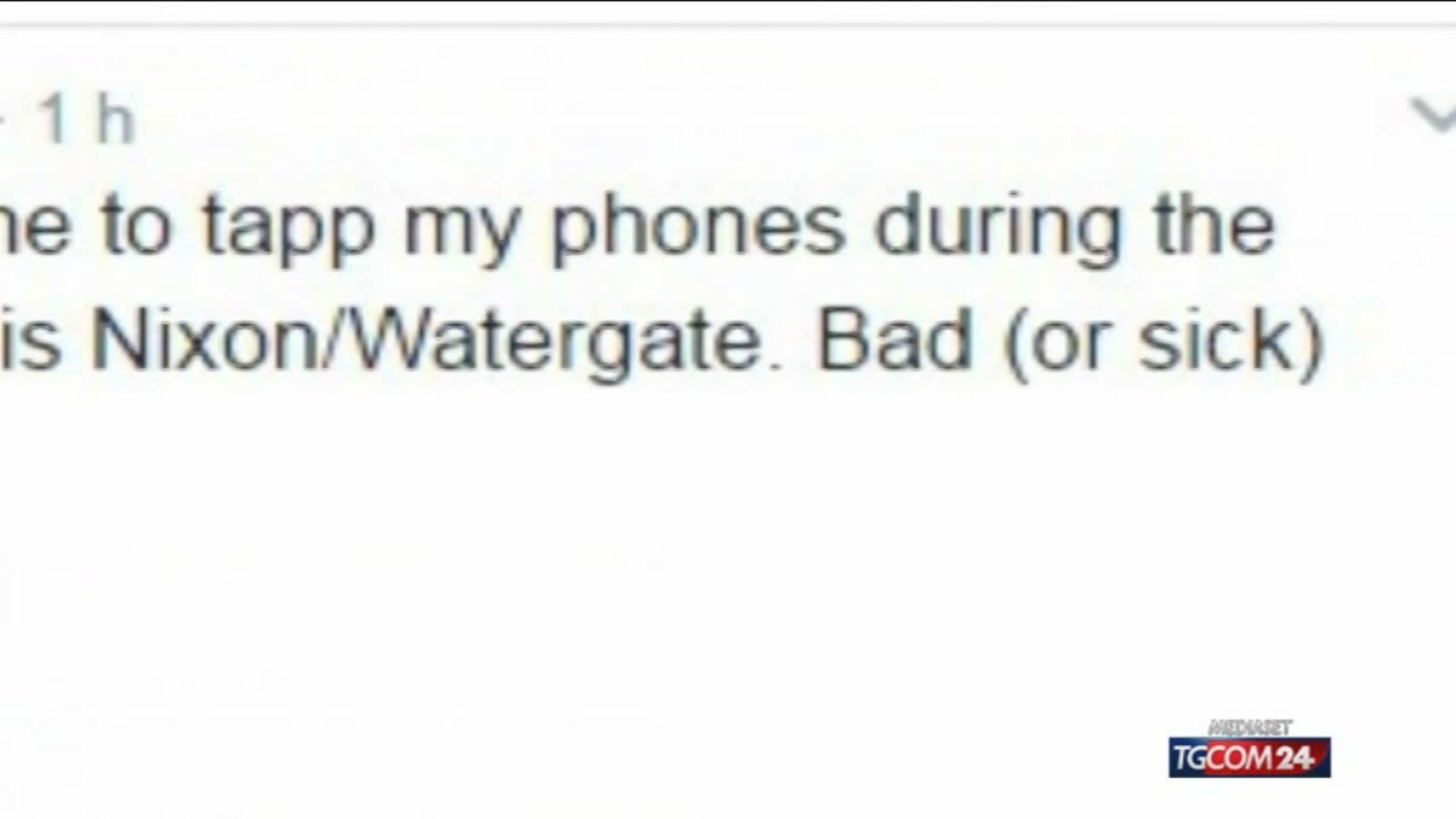 """Trump: """"Il Congresso apra un'indagine su Obama, mi ha spiato"""""""