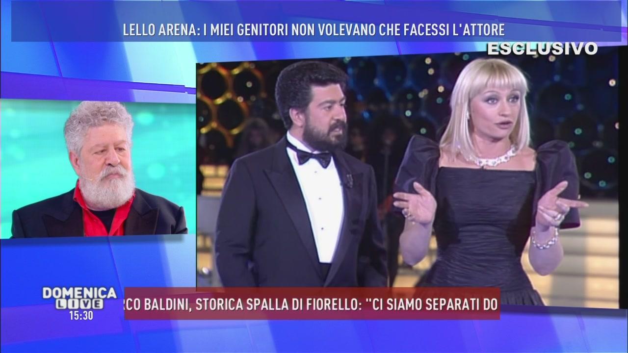 Lello Arena e Raffaella Carrà