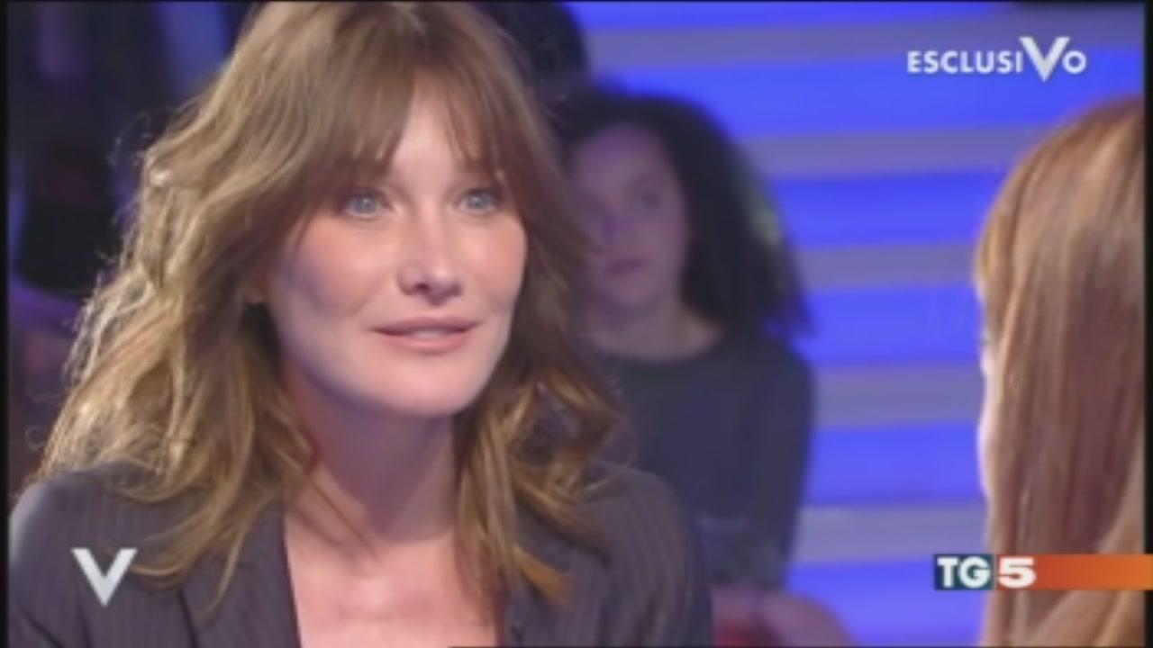 Carla Bruni a Verissimo