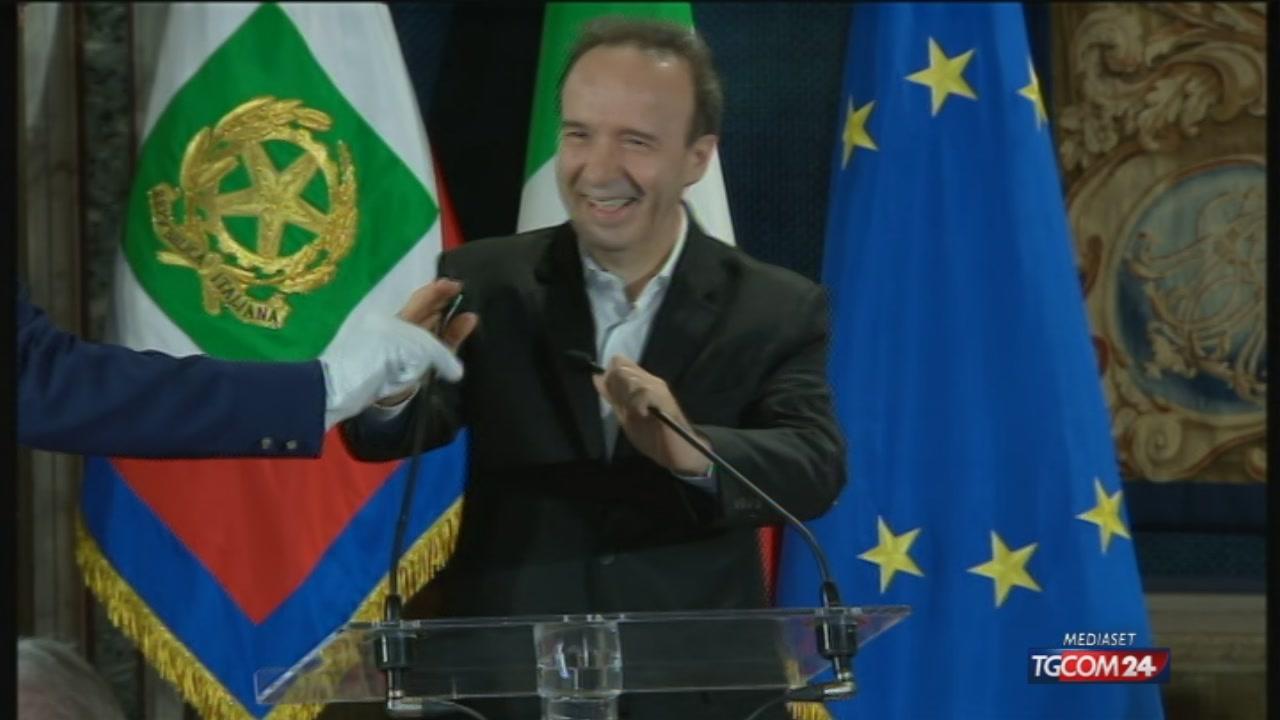 """Donatello, Benigni al Quirinale: """"Sono portavoce del partito del cinema"""""""