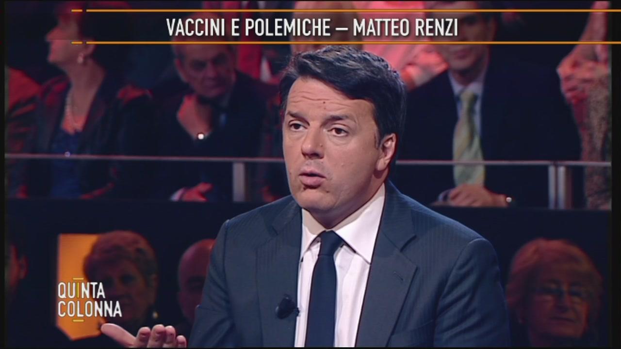 Renzi e i vaccini