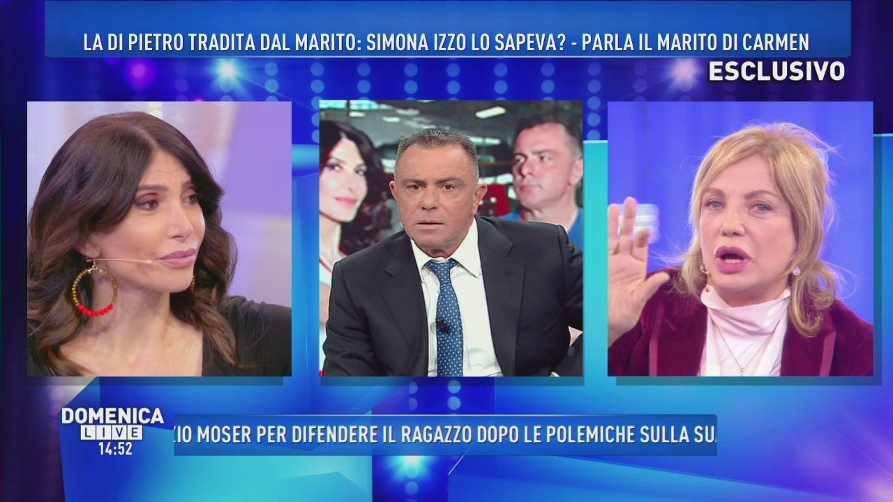 Carmen Di Pietro tradita, Simona Izzo lo sapeva?