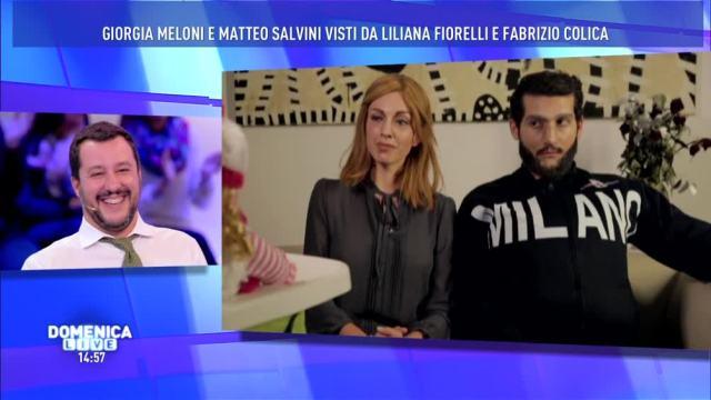 Salvini e Meloni, esilarante sketch