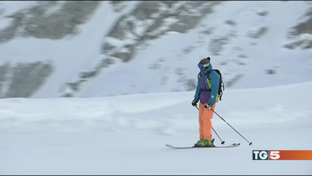 Ecco la neve fuori gli sci!