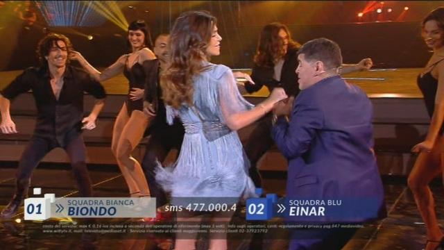 Belén Rodríguez e Diego Armando Maradona ad Amici 17