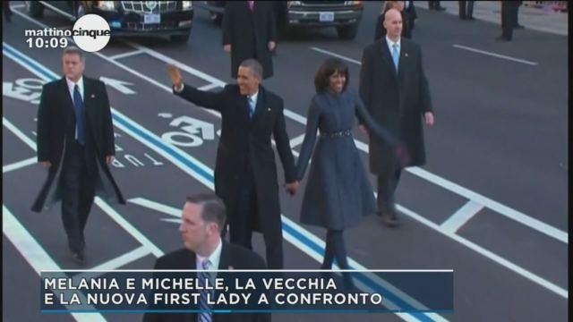 Melania e Michelle a confronto