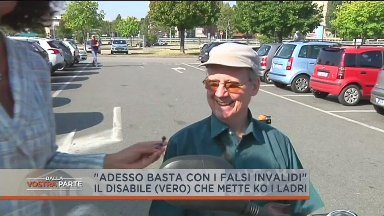 Disabile sventa una rapina