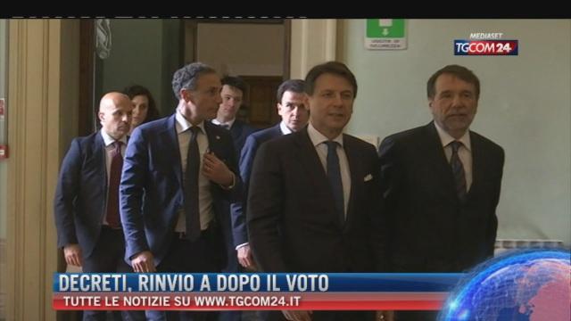 Breaking News delle ore 09.00: 'Decreti, rinvio dopo il voto'
