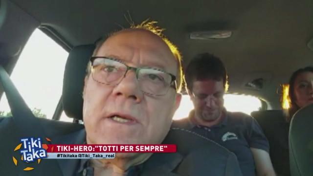Tiki-hero per Verdone: 'Totti per sempre'