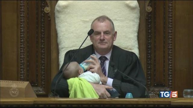 Un ospite speciale in Parlamento